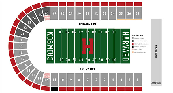 Harvard Stadium Map