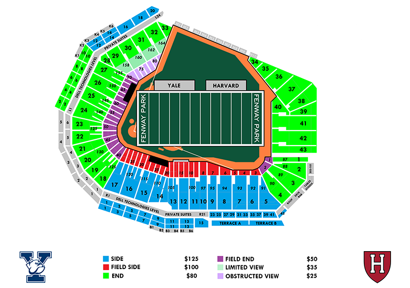 Harvard-Yale Pricing & Seat Map