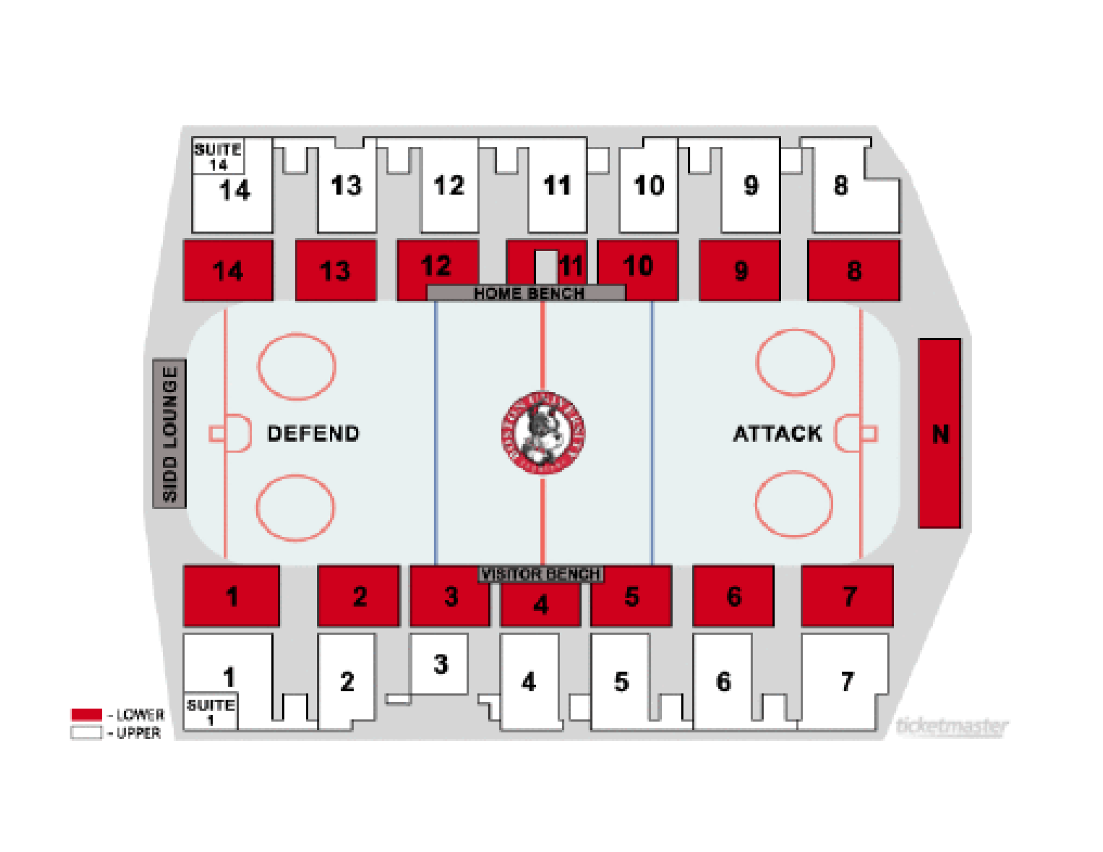 Northeastern Hockey Seat Map
